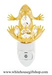 Gold Northern Frog Nightlight with Swarovski® Crystals