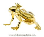 Gold Frog Prince Ornament