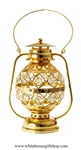 Gold Grand Lantern with LED Table Top Display with Swarovski Crystals