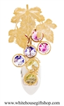 Gold Bunch of Grapes Nightlight with Swarovski® Crystals