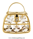 Gold Fashion Handbag Purse Ornament with Swarovski® Crystals