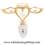 Gold Heart Angel Nightlight with Swarovski® Crystals