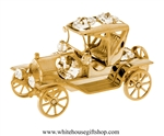 Gold Fanciful Henry Ford Model T Car Ornament with Swarovski® Crystals