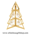 Gold Geometric Holiday Tree Ornament