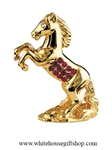 Gold Chinese Zodiac Year of the Horse Table Top Display with Ruby Red Swarovski® Crystals