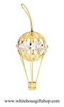 Gold Hot Air Balloon Ornament