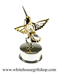 Gold Mini Hummingbird Jewelry Box with Swarovski® Crystals