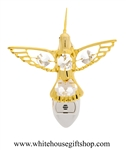 Gold Hummingbird Nightlight with Swarovski® Crystals