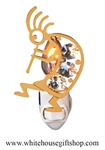Gold Kokopelli Nightlight with Swarovski® Crystals