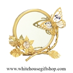 Gold Butterfly, Mirror, & Photo Frame Display with Swarovski® Crystals