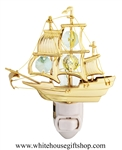 Gold Mayflower Nightlight with Swarovski® Crystals