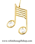 Gold Music Note Ornament