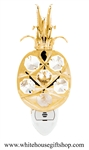 Gold Pineapple Nightlight with Swarovski® Crystals