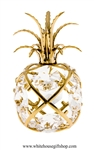 Gold Pineapple Ornament with Swarovski Crystals