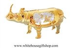 Gold Rhino Ornament with Swarovski® Crystals
