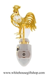 Gold Rooster Nightlight with Swarovski® Crystals