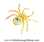 Gold Spider on a Web Magnet/ Sun Catcher Window Cling with Swarovski® Crystals