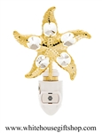 Gold North Atlantic Starfish Nightlight with Swarovski® Crystals