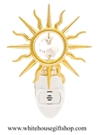 Gold Sunshine Nightlight with Swarovski® Crystals