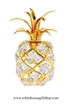 Gold Tropical Pineapple Ornament