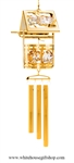 Crystal Gold Classic Wishing Well chime Ornament with Swarovski® Crystals