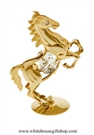 Gold Wild Stallion Table Top Display with Swarovski Crystals