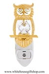 Gold Wise Owl Nightlight with Swarovski® Crystals