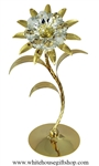 Gold Crystal Shasta Daisy Flower with Swarovski Crystals