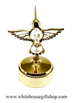 Gold Mini Hummingbird Music Box with Swarovski® Crystals
