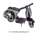 Pewter Metallic Italian Mooter Scooter Ornament with Swarovski Crystals