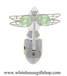 Silver Mini Dragonfly Nightlight with Swarovski® Crystals