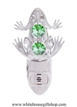 Silver Northern Frog Nightlight with Swarovski® Crystals
