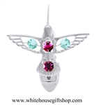 Silver Hummingbird Nightlight with Swarovski® Crystals
