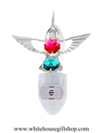 Silver Mini Hummingbird Nightlight with Swarovski® Crystals