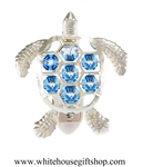 Silver Sea Turtle Nightlight with Swarovski® Crystals