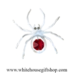 Silver Spider on a Web Magnet/ Sun Catcher Window Cling with Swarovski® Crystals