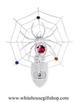 Silver Spider on a Web Nightlight with Swarovski® Crystals