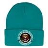 TurquoiseBeanie Hat with Seal of the President