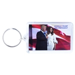 donald j. trump-melania trump-photograph-keyring-key chain-white house gift shop-original secret service store