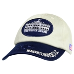 White House Architecture Hat, Tan & Blue - Imported  CLOSE OUT SALE