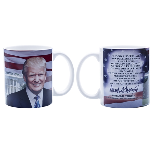 President Elect Donald J. Trump 45th President Inaguration Mug from Official White House Gift Shop