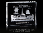 National Mall with Memorials Model in Crystal Optical Glass from the White House Gift Shop