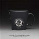 coffee-mug-white-house-dining-room-seal of the president-slate-mugs-white house gift shop-designed and hand-etched by patriotic artist anthony giannini-fiesta-compare with Macy's, Waterford, Nordstrum, Target, Historical Association-white house gifts