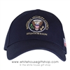 Presidential Made in USA cap, National Security Council  Navy Blue American Made Hat, Structured Cotton, made in America, Cotton Presidential embroidered head wear , United States Flag on side