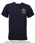 National Security Council White House Situation Room Cotton T-Shirt Made in USA, midnight navy blue