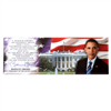 "President Barack Obama, 44th President, Oath of Office Photo Magnet with Full Text, 4.5"" x 1.5"""