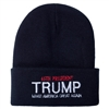 Donald Trump, 45th President, Black Knit Ski Hat or Beanie, Make America Great Again, White House Gift Shop