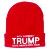 Donald Trump, 45th President, Red Knit Ski Hat or Beanie, Make America Great Again, White House Gift Shop