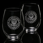 White House Wine Glass, stemless
