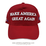 Donald J. Trump, red hat,  hats-Make America-Great-Again-from official white house gifts and gift shop-historic elections series